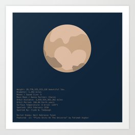 Pluto Facts Art Print