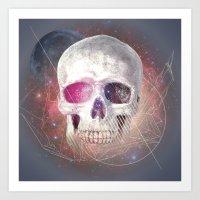 Astral Skull Art Print