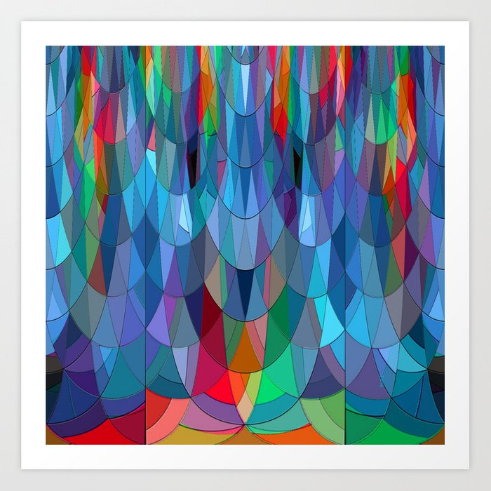 The Many Colors of the Mermaid.... Art Print