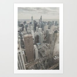 Chicago skyscrapers Art Print