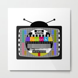 the revolution will not be televised Metal Print