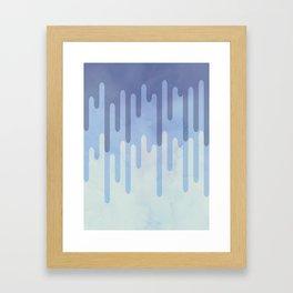 Melting blue Framed Art Print