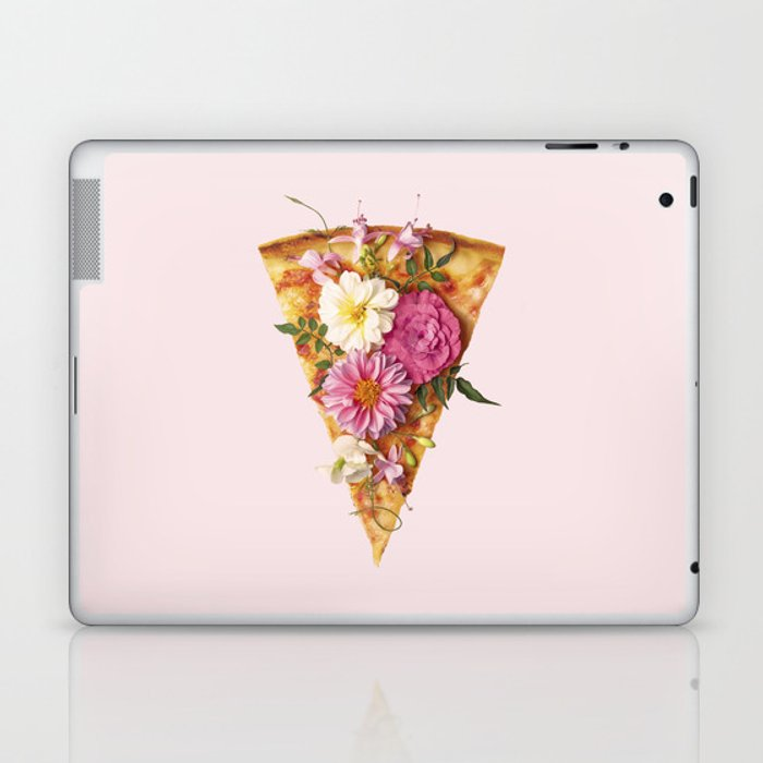 FLORAL PIZZA Laptop & iPad Skin