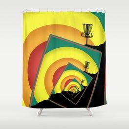 Spinning Disc Golf Baskets 3 Shower Curtain