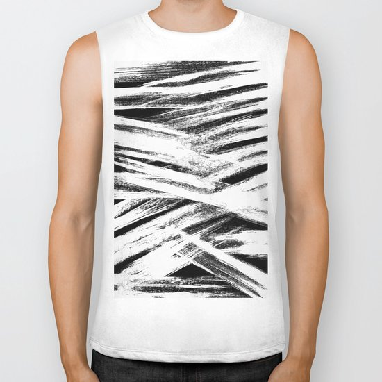 White brush Biker Tank