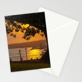 Sunset on Sydney Harbour, Observatory Hill Park, Sydney Stationery Cards