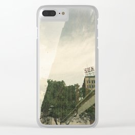 Lowell city Clear iPhone Case