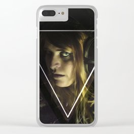 Spellcaster and Her Umbrawave Clear iPhone Case