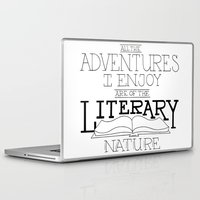 literary Laptop & iPad Skins featuring Literary Adventures by Drop and Give Me Nerdy