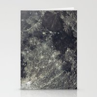 the moon Stationery Cards featuring Moon by Pete Baker