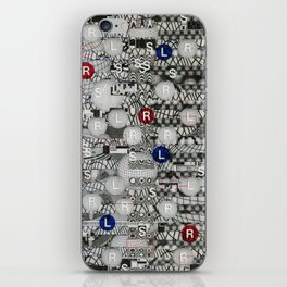 Do The Hokey Pokey (P/D3 Glitch Collage Studies) iPhone Skin
