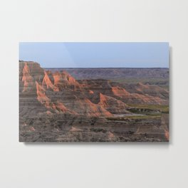 Sheep Mountain Table Catches Sunset Light Metal Print