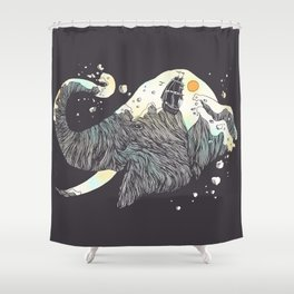 The Grey Gust and the Savage Sea Shower Curtain