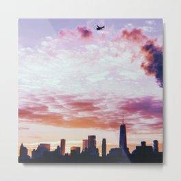 New York City // Retro 21 Metal Print