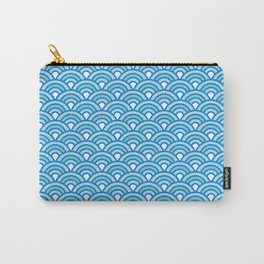 Blue Wave Japanese Kimono Pattern Carry-All Pouch