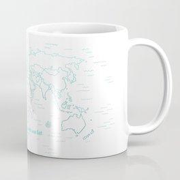 Where We've Been, World, Icy Blue Coffee Mug