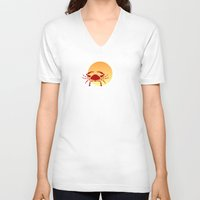 cancer V-neck T-shirts featuring Cancer by Geni