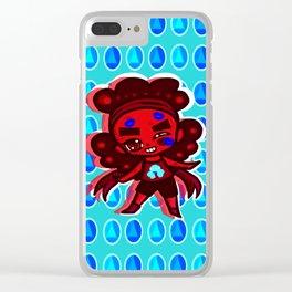 Rumblin' Ruby Clear iPhone Case