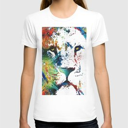 Colorful Lion Art By Sharon Cummings T-shirt