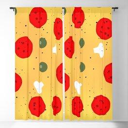 Cool fun pizza pepperoni mushroom Blackout Curtain