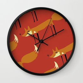 The Crow and The Fox Wall Clock