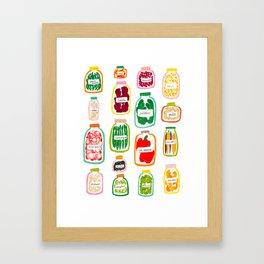 Jars of Fruit & Veg Framed Art Print