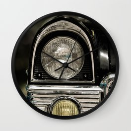 closeup of classic luxury car Wall Clock