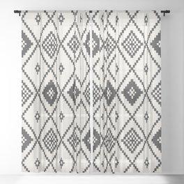 Salah in Black and White Sheer Curtain