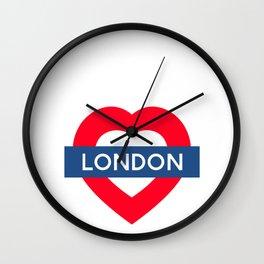 London Underground - Heart Wall Clock