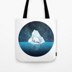 Baby Narwhal on Iceberg Tote Bag