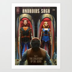Androids Saga - The Creations of Dr Gero Art Print