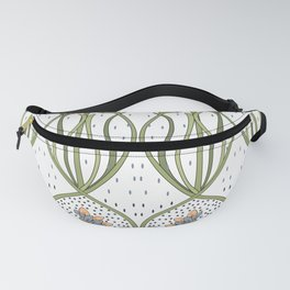 Art Nouveau ornament with peonies Fanny Pack