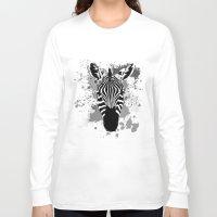 splatter Long Sleeve T-shirts featuring Splatter Stripes by AdamAether