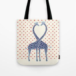 Giraffes in Love - a Valentine's Day illustration Tote Bag
