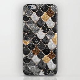 REALLY MERMAID BLACK GOLD iPhone Skin
