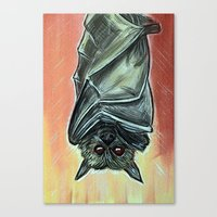 bat Canvas Prints featuring Bat by MSG Imaging