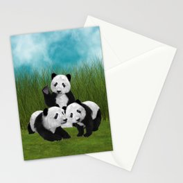 Panda Bear Cubs Love Stationery Cards