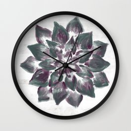 Bloom - pine/purple Wall Clock