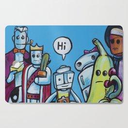 """Everyone Says """"Hi"""" Cutting Board"""