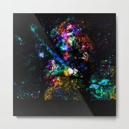 nebula trees Metal Print