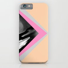Peachy with Blue Triangles iPhone 6s Slim Case