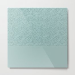 Warm , gray turquoise solid pattern . Metal Print