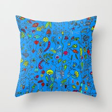 colorful days Throw Pillow