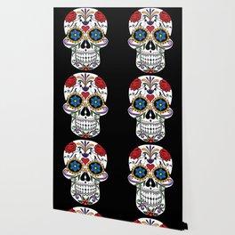 Colorful Sugar Skull Wallpaper