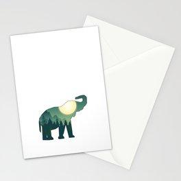 Moon Elephant Stationery Cards