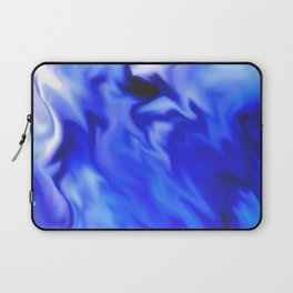 Light blue and silver waves Laptop Sleeve