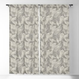 Abstract Geometrical Triangle Patterns 2 Benjamin Moore 2019 Trending Color Balboa Mist Light Pastel Blackout Curtain