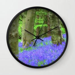Bluebell Woods, The Wenallt #2 Wall Clock