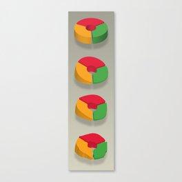 Data Deflated Canvas Print