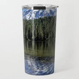 Ripples and Reflection, Mt Rainier Travel Mug